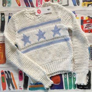 NWT Wildfox Brinne Starshine Star Knit Sweater Top